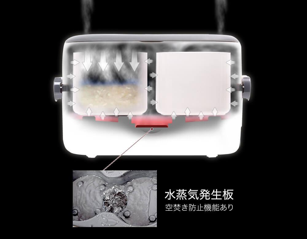 水蒸気発生板 空焚き防止機能あり
