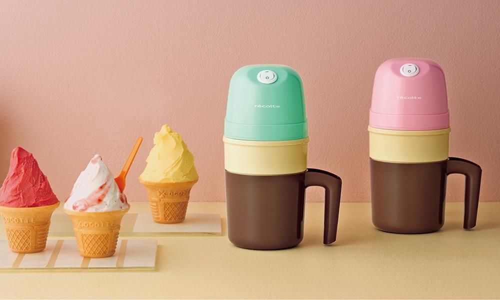 recolte(レコルト) アイスクリームメーカー ピンク