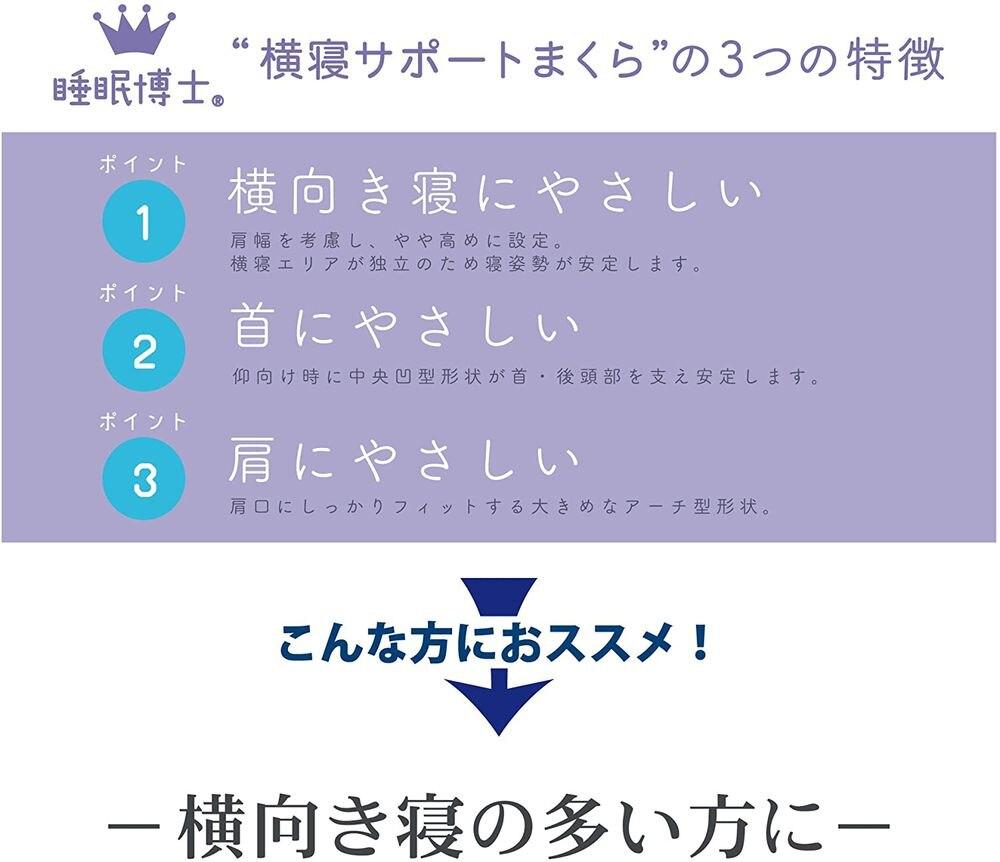 東京西川×医学博士 「睡眠博士」横寝サポート枕 低め