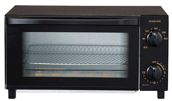 オーブントースター ブラック
