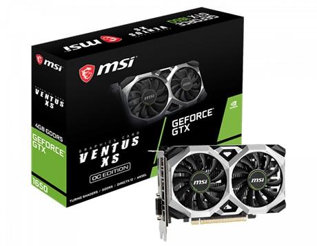 グラフィックボード GeForce GTX 1650 VENTUS XS 4G OC