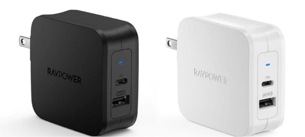 USB-C急速充電器 61W/PD 3.0対応/折畳式/2ポートUSB-A & USB-C