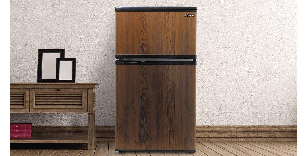 2ドア冷凍/冷蔵庫 90L ホワイト 【配送のみ設置無し 軒先渡し】