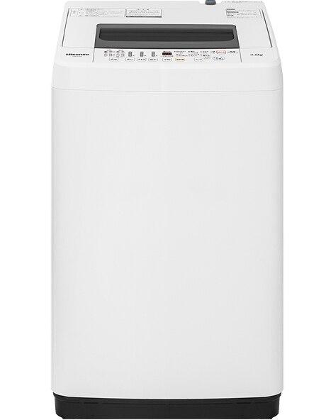 全自動洗濯機 4.5kg ホワイト 【配送のみ設置なし 軒先渡し】
