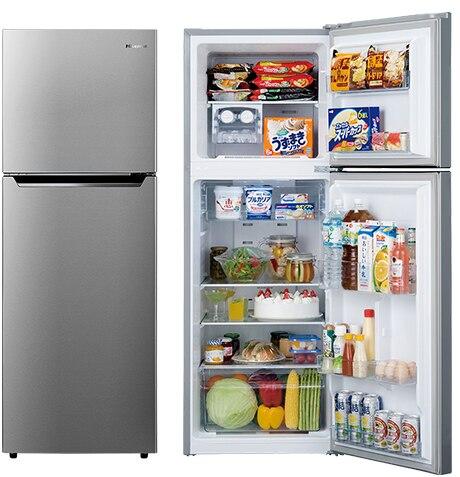 2ドア冷蔵庫 227L シルバー【大型商品(設置工事可)】
