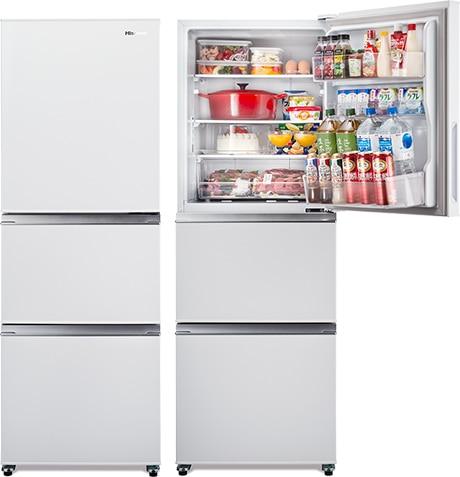 3ドア冷蔵庫 282L ホワイト【大型商品(設置工事可)】