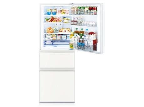3ドア冷蔵庫(330L) CGシリーズ ナチュラルホワイト(右開き)【大型商品(設置工事可)】