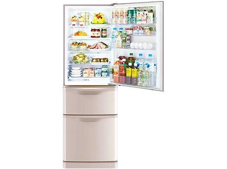 3ドア冷蔵庫(370L) Cシリーズ シャンパンピンク(右開き)【大型商品(設置工事可)】