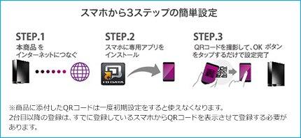 スマホから3ステップの簡単設定