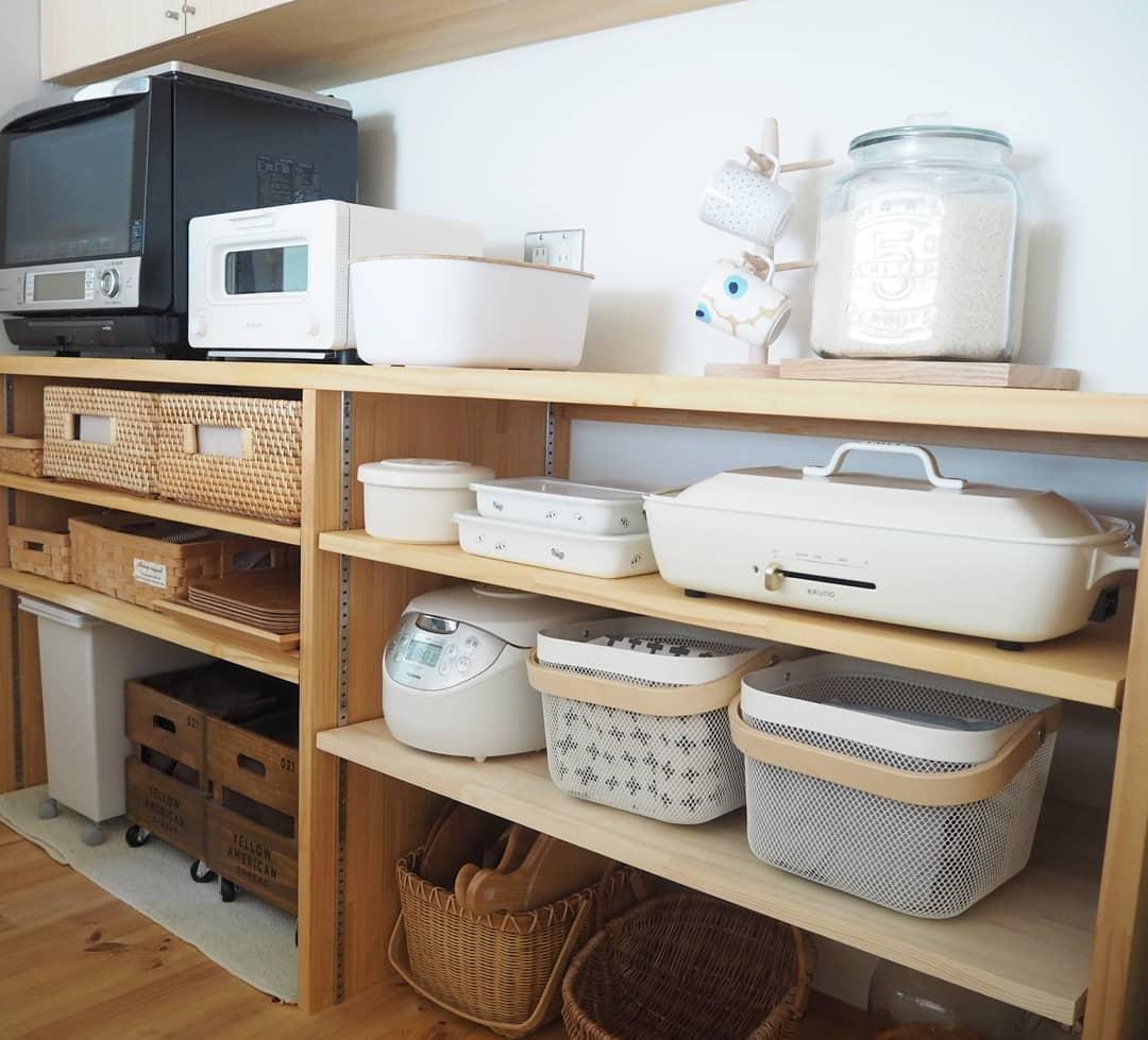 洗練されたデザインのキッチン家電なら見せてもおしゃれ!