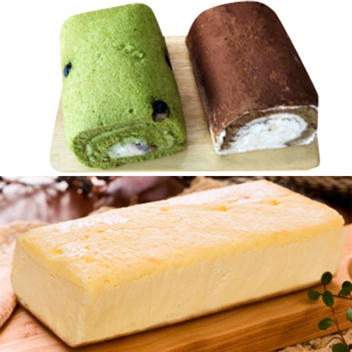 【送料無料】贅沢チーズケーキ まざあぐうす 京のロールケーキセット セット