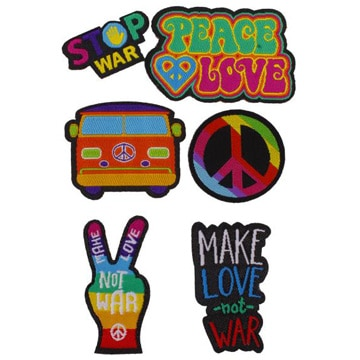 Patch Sticker Kit シールタイプ:Peace & Love 6pcs