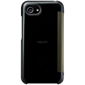 AQUOS R compact用 純正カバー Frosted Cover クリアブラック