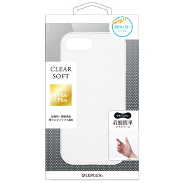 iPhone 8 Plus/7 Plus TPUケース「CLEAR SOFT」 クリア
