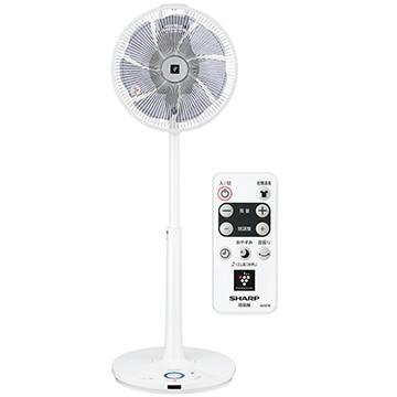シャープ ハイポジション リビング扇風機 DCモーター プラズマクラスター搭載 リモコン付 ホワイト PJ-H3DS-W