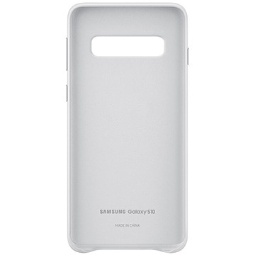 Galaxy S10 Leather Cover White