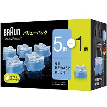 ブラウン クリーン&リニュー専用洗浄液カートリッジ(5個+1個入) CCR5CR