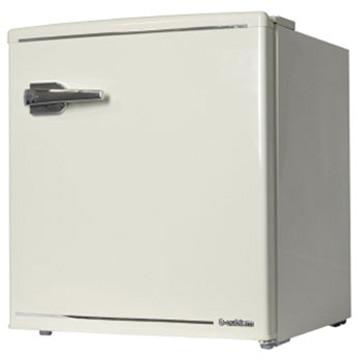 A-stage エスキュービズム 1ドア レトロ冷蔵庫 48L レトロホワイト【配送のみ 設置なし 軒先渡し】 WRD-1048W
