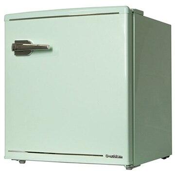 A-Stage エスキュービズム 1ドア レトロ冷蔵庫 48L ライトグリーン【配送のみ 設置なし 軒先渡し】 WRD-1048G