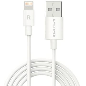 RAVPower Lightning ストレートケーブル 1.0m ホワイト RP-CB030-W