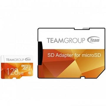 TEAM SDXC MicroSD SDアダプタ付き 128GB 10年保証 TCUSDX128GUHS42