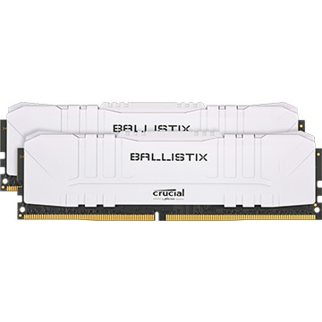 内蔵メモリ Ballistix White 2x8GB (16GB Kit) DDR4 3200MT/s CL16 Unbuffered DIMM 288pin White