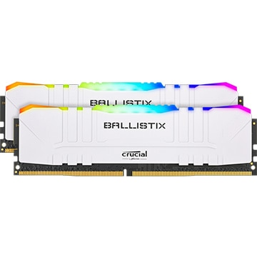 内蔵メモリ Ballistix White RGB 2x8GB (16GB Kit) DDR4 3200MT/s CL16 Unbuffered DIMM 288pin White RGB