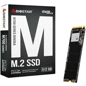 BIOSTAR 内蔵SSD PCI-Express Gen3 x4接続NVMe V1.3対応 512GB /TLC NANDフラッシュ 製品保証3年 M700-512GB