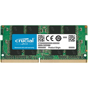 Crucial 16GB DDR4 2400 MT/s (PC4-19200) CL17 DR x8 Unbuffered SODIMM 260pin CT16G4SFD824A
