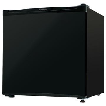 A-Stage 1ドア冷蔵庫 46L ブラック 【配送のみ設置無し 軒先渡し】 AS-46B