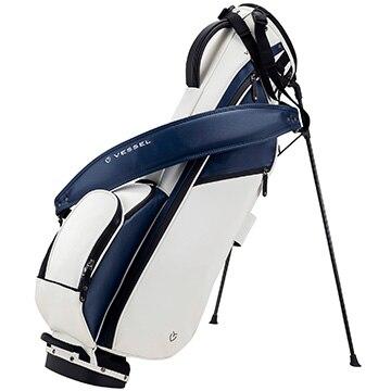 朝日ゴルフ ■VESSEL SUNDAY BAG WH/NV SINGLE 7030118