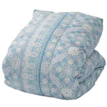 西川 ■ホワイトダックダウン85% 羽毛掛け布団 シングル ブルー 保温性 軽い 抗菌加工 150×210cm KA00002001B2