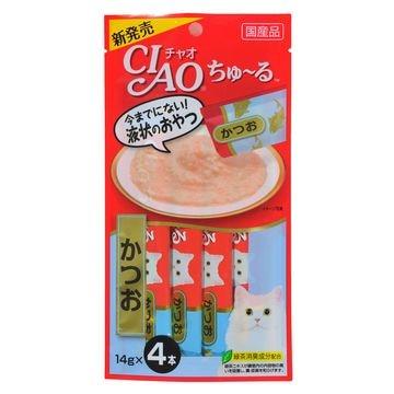 いなばペットフード 株式会社 ■CIAO ちゅ~る かつお 14g×4本 SC-72