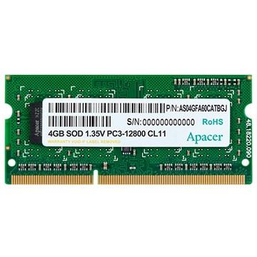 Apacer 内蔵メモリ DDR3 SODIMM 4GB DDR3-1600 CL11 1.35V DV.04G2K.KAM
