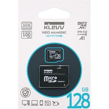 Essencore KLEVV microSDXC NEO 128GB アダプタ有 K128GUSD3U3-NJ
