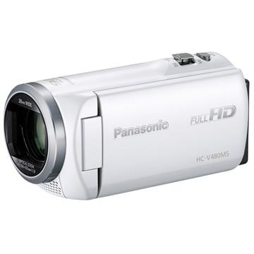 パナソニック デジタルハイビジョンビデオカメラ [ホワイト] HC-V480MS-W