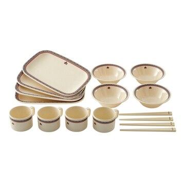 ロゴスコーポーレーション ■ナバホ パーティー箸付き食器セット4人用