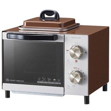 コイズミ ●オーブントースター 目玉焼き機能付き ブラウン KOS-0703/T