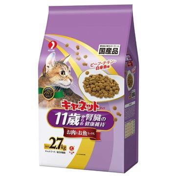 <ひかりTV>【ポイント10倍】キャネットチップ 11歳健康肉魚ミックス 2.7Kg 4902418518084画像