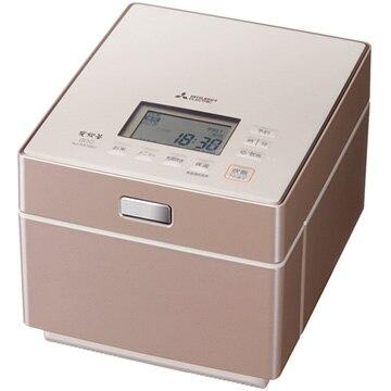 三菱電機 蒸気レスIH炊飯器 炭炊釜 5.5合炊き テンダーロゼ NJ-XS108J