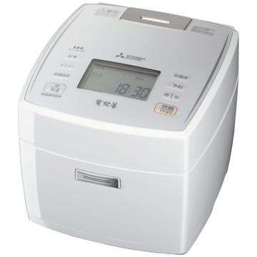 三菱電機 IH炊飯器 炭炊釜 1升(10合)合炊き ピュアホワイト NJ-VE188