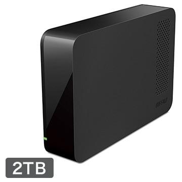 36%OFF!<ひかりTV>【送料無料 + ポイント3倍】USB3.1(Gen1)/USB3.0用 外付けHDD 2TB ブラック HD-NRLC2.0-B