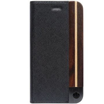 iPhone X ケース 50:50 BLACK ASH FOLIO HARD SHELL