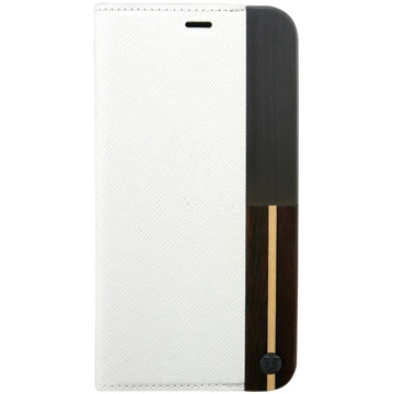 [iPhone X ケース50:50 WHITE ASH FOLIO HARD SHELL