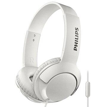 フィリップス マイク付き密閉型 オンイヤーヘッドフォン(ホワイト) SHL3075WH
