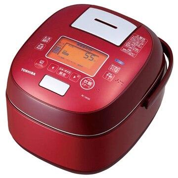 東芝 真空圧力IH炊飯器 鍛造かまど銅釜 5.5合炊き グランレッド RC-10VSK(R)