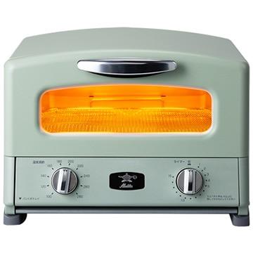 日本エー・アイ・シー アラジン グラファイト グリル&トースター 4枚焼き グリーン AGT-G13A-G