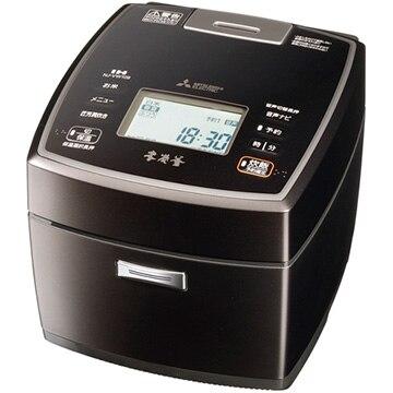三菱電機 IH炊飯器 本炭釜 5.5合炊き 黒銀蒔 NJ-VW109-B