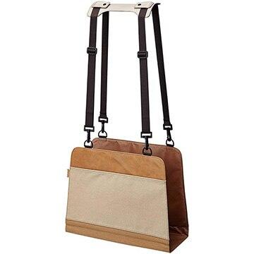 キングジム イスの後ろの鞄置き キャメル&ベージュ 6020CA