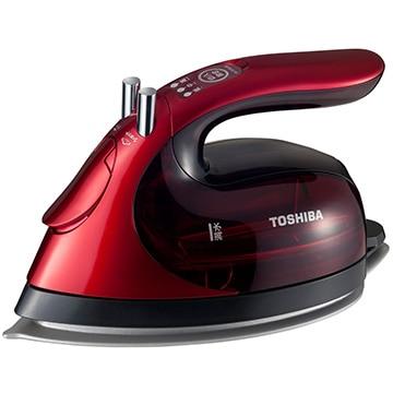 TOSHIBA コードレススチームアイロン コンパクト ミラクル ラクー グランレッド TA-FVX630(R)